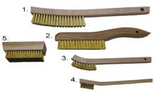 Brass Brushes - Curved Handle, Shoe Handle, Tooth Brush, hand Brush