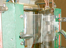 Mold Shield (Shown mounted on machine)